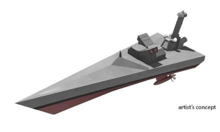 Kaip NOMAR laivą įsivaizduoja dailininkas © DARPA