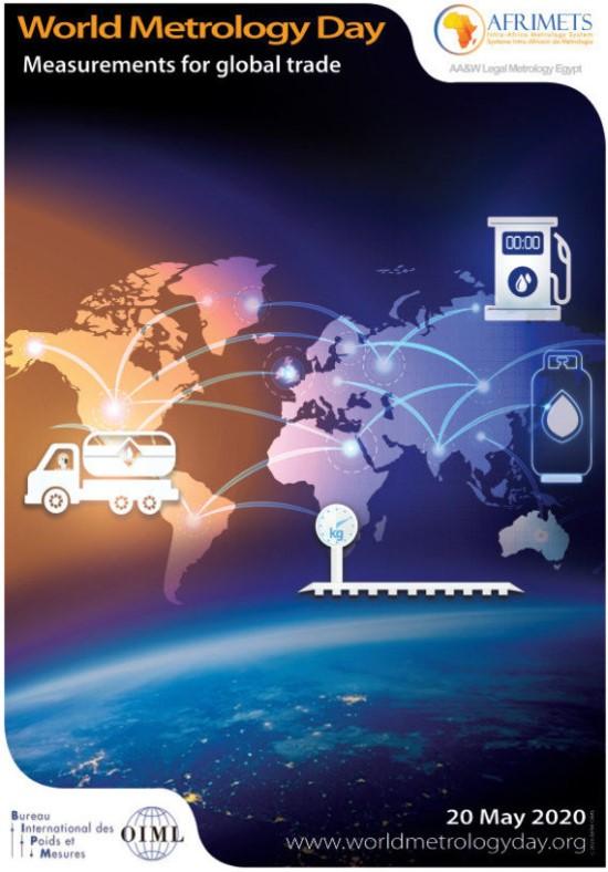 Pasaulinės metrologijos dienos plakatas (2020 m.)