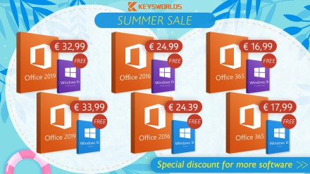 """Laikas legalizuotis: šiuo metu už €16,99 pirkdami """"Office"""" biuro programų licenciją nemokamai gausite ir legalią """"Windows 10"""""""