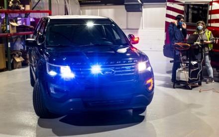 """""""Ford Police Interceptor Utility"""" – tokius visureigius naudoja kelių šalių policijos pajėgos © """"Ford"""" nuotrauka"""