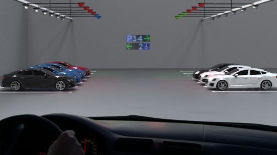 Vidaus aikštelė – ultragarsinė automobilių parkavimo sistema su nuotoline indikacija