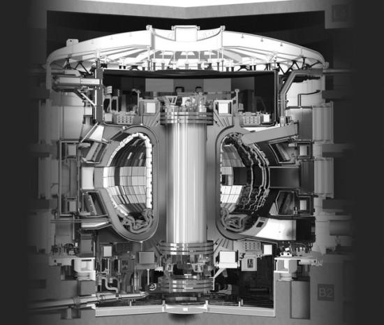 ITER tokamako schematinis vaizdas © ITER