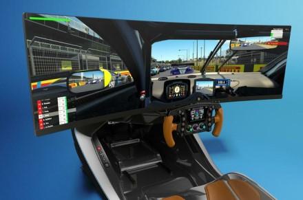 """AMR-C01 turi didelį lenktą ekraną © """"Aston Martin"""""""