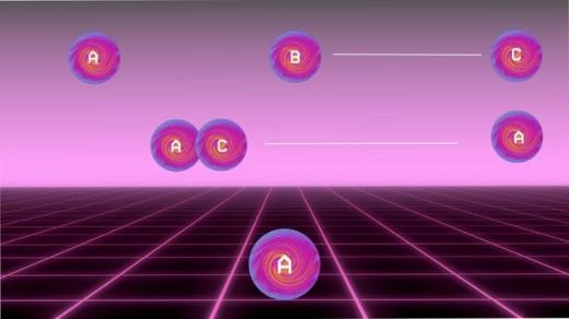 Kvantinio teleportavimo veikimo diagrama
