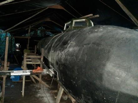 Sulaikytas narkotikų laivas. Kolumbijos karinio jūrų laivyno nuotr.