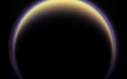 Saturno mėnulis Titanas. NASA nuotr.