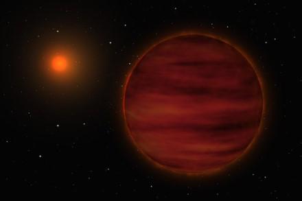 Pirmą kartą rudoji nykštukė aptikta vien iš radijo spinduliuotės © ESO