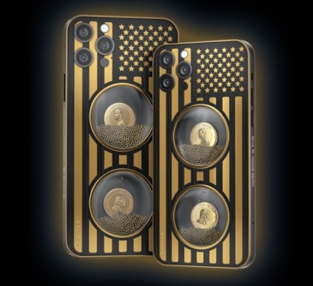 """Rusai išleido 16 000 € kainuojantį """"iPhone"""" su D. Trumpo ir J. Bideno portretais"""