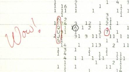 """""""Wow! signalas"""" užfiksuotas 1977 m. © NAAPO   commons.wikimedia.org"""
