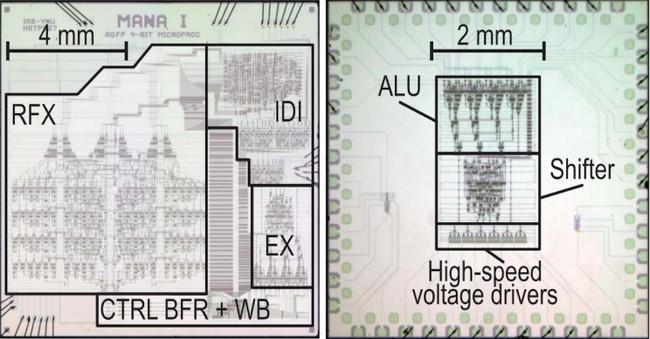 Lustų prototipai – MANA (kairėje) ir EX © Christopher L. Ayala/IEEE