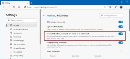 """""""Microsoft Edge"""" naršyklė praneš, jei jūsų slaptažodis bus nulaužtas"""