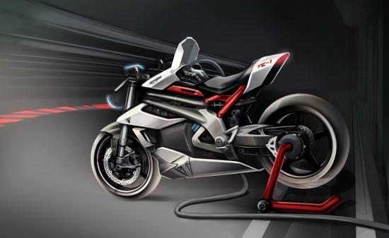 """Panašu, kad """"Triumph"""" mato šį motociklą ir trasose © Gamintojo nuotrauka"""