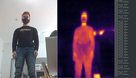 Robotas atpažįsta žmogų. KTU nuotr.