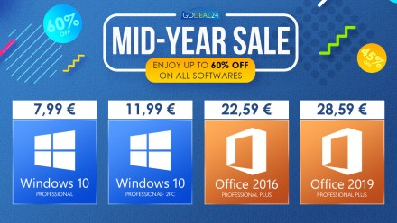 """2021 m. vidurio išpardavimas – """"Windows 10 Pro Key"""" už 7,99 EUR, """"Office 2019"""" – už 28,59 € ir daugiau!"""