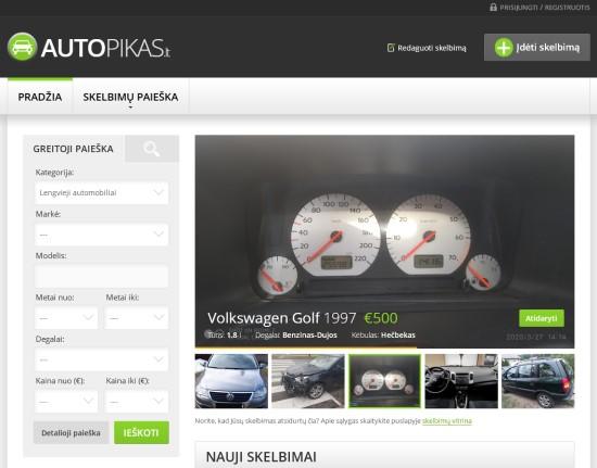 Parduodate ar perkate naudotą automobilį?