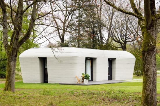 Bart van Overbeeke / 3D spausdintuvu sukurtas betoninis namas Olandijoje