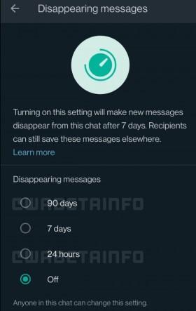 """""""WhatsApp"""" laukia dar vienas atnaujinimas: žinutės galės išnykti ir po keletos mėnesių"""