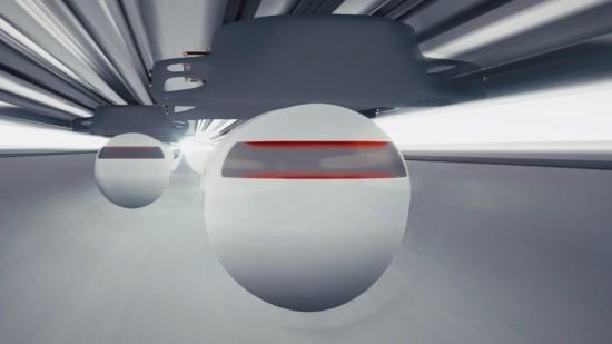"""""""Virgin Hyperloop"""" / Kompanijos pateikta kapsulės vizualizacija"""