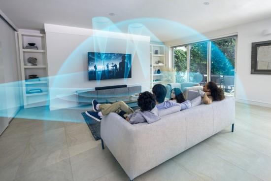 """Naujasis """"Sony"""" garso projektorius """"HT-A5000"""" – kita namų kino patirties dimensija"""