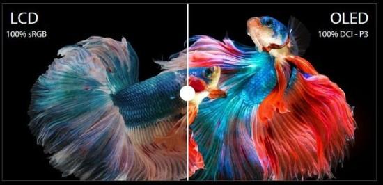 OLED pasižymi platesne atkuriamų spalvų palete © ASUS