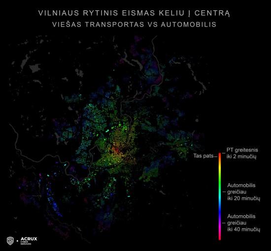 Vilniaus rytinis eismas – automobilis prieš viešąjį transportą