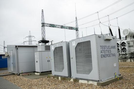 1 MW baterija Vilniaus transformatorių pastotėje